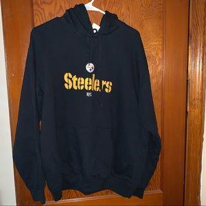 Black adult size large Steelers hoodie